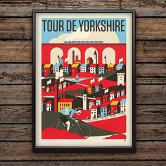 The Tour de Yorkshire begins today. The print is now on offer in the shop. Pedal over to crayonfireshop.co.uk to see the print and much more! #tourdeyorkshire #tdy #cycling #yorkshire #ehup #print #art #bikes by neil_a_stevens