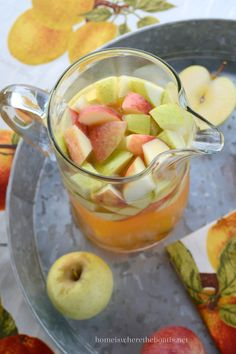 Apple Cider Sangria is a refreshing sangria for fall! An easy seasonal cocktail for a crowd, taking advantage of just picked apples, fresh apple cider, and ideal to mix up for tailgating or just...: