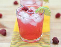 Skinny Raspberry Margarita:   3 oz. fresh or frozen raspberries  4 oz. silver tequila  1 lime, juiced  6 oz. club soda  1 tbs. agave nectar (or to taste)  Splash raspberry liquor and/or Triple sec (optional)