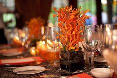Photography: Jennifer Davis Photography - jenniferdavisphotography.com Event Design: My Bellissima - mybellissima.com  Read More: http://www.stylemepretty.com/2011/01/12/new-jersey-wedding-by-my-bellissima-jennifer-davis-photography/  #centerpiece #orangewedding