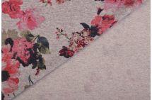 Teplákovina French Terry s květy 9022/015