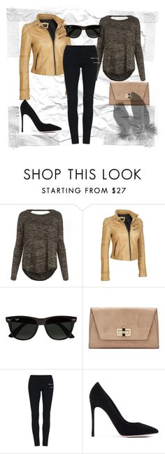 """""""Never be bored!"""" by josehline on Polyvore featuring rag & bone/JEAN, Black Rivet, Ray-Ban, Diane Von Furstenberg, Gianvito Rossi, leatherjacket, simpleoutfit, everydaywear, weareffortlessly and plus size clothing"""