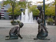 I think this is the cutest thing. These statues are near a fountain in Idaho.