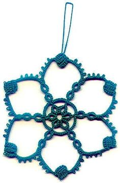 block snowflake #tatted #tatting #tat #lace