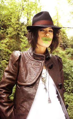 Love the jacket, hat, and necklaces on Katherine Moennig