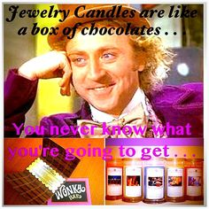 Jewelry Candles are like a box of chocolates . . . #JewelryCandles #candles #jewelry