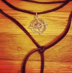Check out this item in my Etsy shop https://www.etsy.com/listing/456499644/compass-black-leather-choker