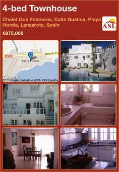 4-bed Townhouse in Chalet Dos Palmeras, Calle Guatica, Playa Honda, Lanzarote, Spain ►€975,000 #PropertyForSaleInSpain