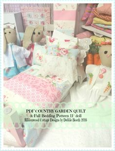 A personal favorite from my Etsy shop https://www.etsy.com/listing/270035677/pdf-country-garden-doll-quilt-and