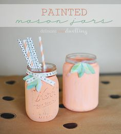 Painted Mason Jar : Garden Party // Delineateyourdwelling.com