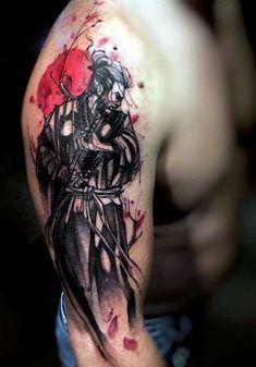 Water Color Samurai Tattoo On Right Sleeve … . - Water Color Samurai Tattoo On Right Sleeve … - Samurai Warrior Tattoo, Warrior Tattoos, Japanese Tattoo Sleeve Samurai, Japanese Warrior Tattoo, Tattoo Japanese, Warrior Tattoo Sleeve, Asian Tattoos, Trendy Tattoos, Feminine Tattoos