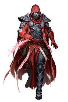 Male Human Hellknight Wizard - Pathfinder PFRPG DND D&D 3.5 5th ed d20 fantasy