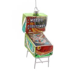 Holiday Ornaments Pinball Game Machine Glass Ornament Height: 5 Inches Material…