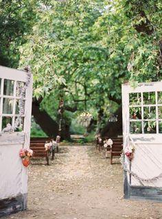 Wedding Inspirations | Old Doors | UBetts Rental & Design | Ceremony Space