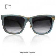"""Marjo Wooden Eyewear """"Bandito Azzurro"""""""