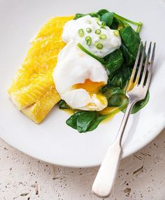 Smoked Haddock with Spinach and Boiled Egg click through for recipe, only 211kcals!