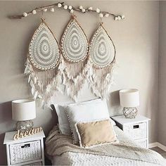 Bohemian Bedroom Decor And Bed Design Ideas Dream Catcher Bedroom, Dream Catcher Boho, Giant Dream Catcher, Dream Bedroom, Bohemian Bedroom Decor, Boho Room, Bohemian Apartment, Modern Bohemian, Bohemian Design