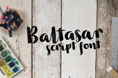 Check out the Baltasar font at Fontspring. Baltasar is a handwritten, brush script with ligatures and contextual alternates to help with flow and readability. Handwritten Script Font, Script Lettering, Typography Fonts, Lettering Design, Cute Fonts, Pretty Fonts, Beautiful Fonts, Stylish Fonts, Branding