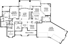 Sunken Family Room and a Children's Retreat - 9529RW | European, French Country, Mountain, Luxury, Photo Gallery, Premium Collection, 1st Floor Master Suite, Butler Walk-in Pantry, CAD Available, Den-Office-Library-Study, In-Law Suite, Media-Game-Home Theater, PDF, Sloping Lot | Architectural Designs