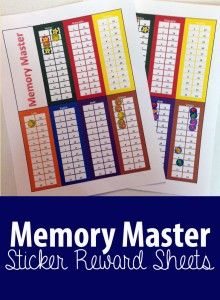 Several Classical Conversations Review games and ideas: Memory Master Sticker…