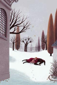 """""""La Belle et la Bête""""  ( Beauty and the Beast) -Ill. Julie Faulques"""
