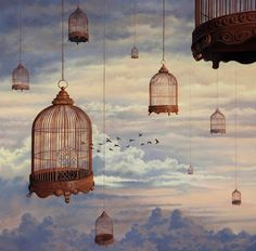 5 Natural Holistic Ways To Reduce Anxiety Freedom Artwork, Bird Cages, Thought Of The Day, Les Oeuvres, Amazing Art, Ceiling Lights, Pure Products, Abstract, Wallpaper
