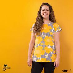 VUONO t-shirt, Buttercup, sun - black - PaaPii Design Warm Grey, Buttercup, Skirts, T Shirt, Design, Black, Tops, Women, Fashion
