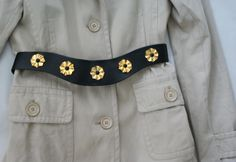 Gold flowers on a vintage Arabesque belt - for sale - only 11$