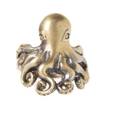 Octopus Ring ~ The octopus is one of the most ancient creatures on earth, and has long been associated with deep magic and mystery. When worn, may this ring remind you of the mysteries of life.