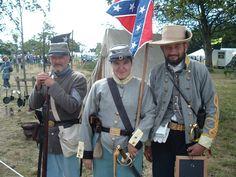 Reenactment British Confederate Re-Enactors