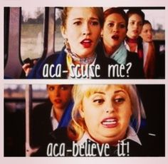 I cannot explain how many times I've heard these throughout this week, and I'm not even tired of it. Pitch Perfect for the win! Movie Memes, Funny Movies, Good Movies, Funny P, Funny Stuff, Awesome Stuff, Love Movie, Movie Tv, Tv Quotes
