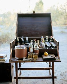 New cabin camping ideas glamping 57 ideas West Indies, Bar Antique, British Colonial Decor, Drinks Trolley, Bar Trolley, Mini Bars, Campaign Furniture, Drinks Cabinet, Liquor Cabinet