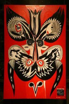 Carlito Dalceggio La Frontera II, Montreal, 2008 Acrylic, ink and pastel on canvas, 42x53in / 107x135cm