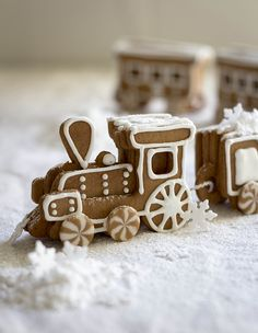 Gingerbread Biscuit Train