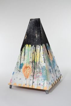 Tatiana Berg, Just Tent, 2011, paint on canvas and wood with casters, 45 x 29 x 29 inches