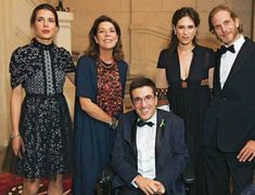 Princess Caroline, Charlotte Casiraghi, Andrea Casiraghi, Tatiana Santo Domingo attended a charity dinner