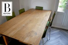 Before & After: Wallpaper Transforms a Tired Table