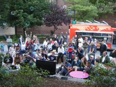 The community gathers at Congress Square Park in Portland, ME| Photo by Friends of Congress Square Park