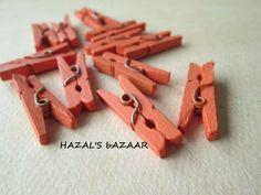 12PCS  Mini Clothespins  Scrapbooking Accessories by HazalsBazaar, $2.40