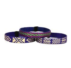 Third Time is the Charm - Cana Flecha Cuff Bracelets - Set of 3 - Purple Tones - Colombia