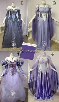 Pantone picks deep purple 'Ultra Violet' as color of year! Which of these Firefly Path purple hue gowns do you like best? Pretty Dresses, Beautiful Dresses, Fantasy Gowns, Violet Dresses, Purple Hues, Deep Purple, Fairy Dress, Medieval Fashion, Elie Saab