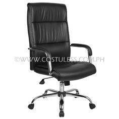 Product Code: HBC-160 Price:  Sale Price:P5 999.00  Description: Ergodynamic™  Executive Hi Back Man made leather chair, tilt lock mechanism, 360˚ Swivel Function, pneumatic height adjustment  Chair Capacity: 80kgs.  Classification: LIGHT DUTY  Usage: OFFICE USE