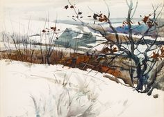 Andrew Wyeth (USA 1917-2009) Gray Barn (n.d.), watercolor on wove paper 53.3 x 68.6 cm