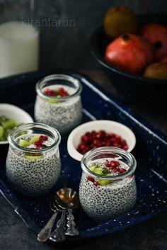 Vanilla Chia Pudding | KiranTarun.com/Food