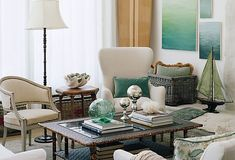 coastal living decor | one_kings_lane_bring_in_the_beach_living_room_decorating_ideas.jpg