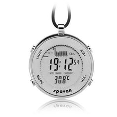 Spovan Waterproof Unisex Pocket Watch,Sports Digital Watch Storm Alarm Altimeter/Barometer/Weather Forecast Fishing Smartwatches, EL Backlight                        FeaturesWatch Case: Stainless steel;EL backlight and 30m WaterproofMultifunctions:Altimeter function for Altitude/Relative height measurement;Barometer for 24 hours pressure change curve;and ThermometerBarometric pressure, temperature, fishing. water depth and record time Fishing places 6 fishing places can be tracked6 fishing…