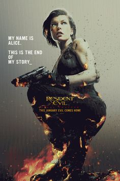 This is the end of her story. Don't miss movie in theaters 1/27/17. Resident Evil, August 2016