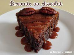 Brownie au chocolat Brownies, Desserts, Making Fondant, Morning Breakfast, Food, Tailgate Desserts, Deserts, Dessert, Food Deserts