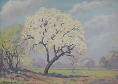 Dombeya in Spring was sold by Strauss & Co., Johannesburg, on Monday, June South African and International Art Tree Art, African, Acrylics, Spring, Paintings, Oil, Things To Sell, Paint, Painting Art