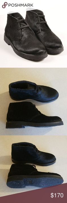 Vince Calf Hair Booties NWOT NWOT Vince Leather and Wool Vince Shoes Ankle Boots & Booties